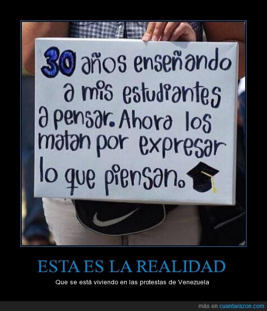 corrupción,estudiantes,expresar ideas,homicidios,maestros,marchas,protestas,represión,Venezuela