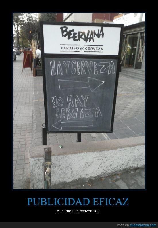 bar,cartel,cerveza,dentro,fuera,publicidad