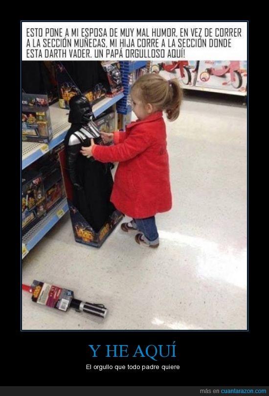 darth vader,hija,hijos,juguete,jugueteria,muñeca,muñeco,padre,star wars