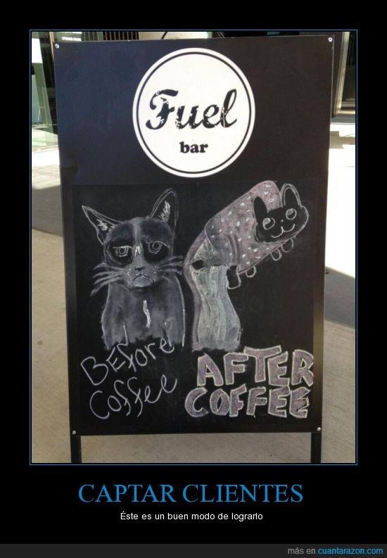 animar,café,grumpy cat,la cafeína es tu mejor amiga,nyan cat,publicidad,volar