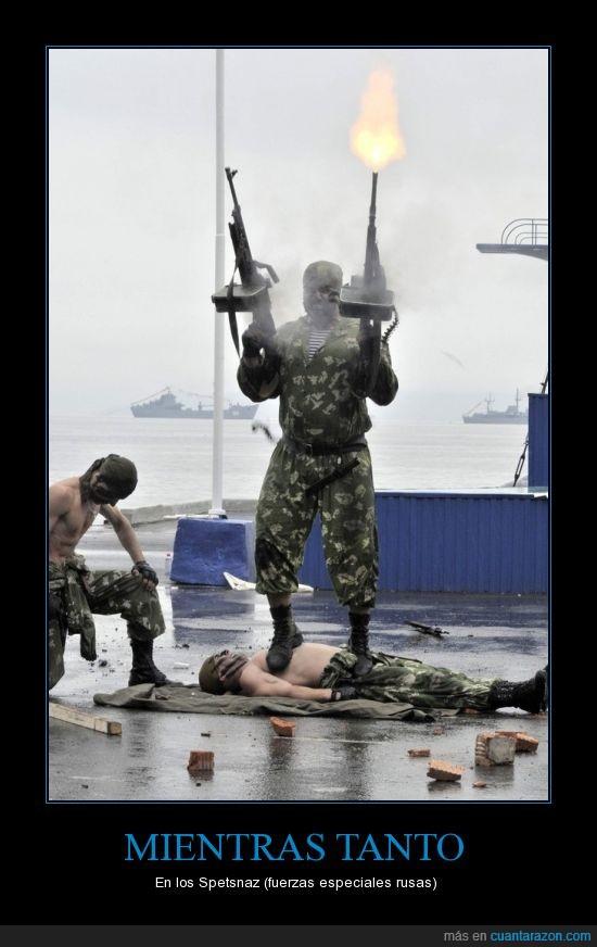 ametralladora,disparos,duros,fuerzas especiales,PKM,Rusia,soldados,spetsnaz,¿en que consiste esta prueba?