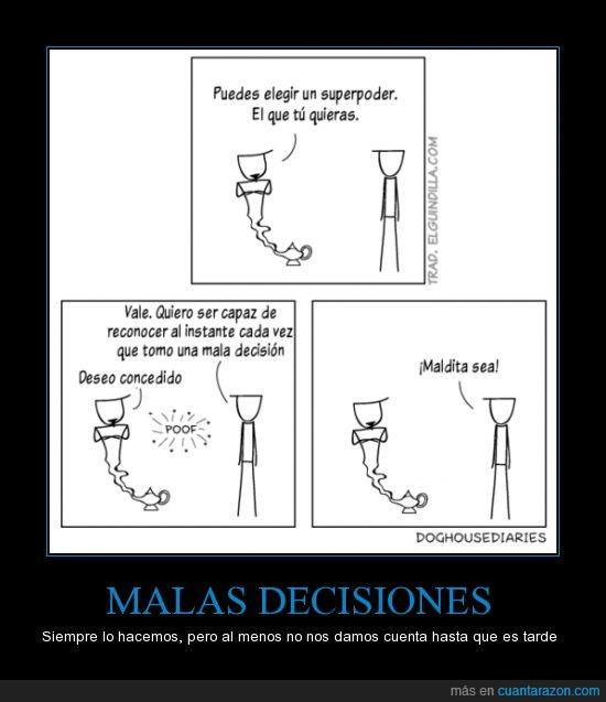 conceder,cuenta,decision,decisiones malas,deseo,genio,lámpara,mala,reconocer