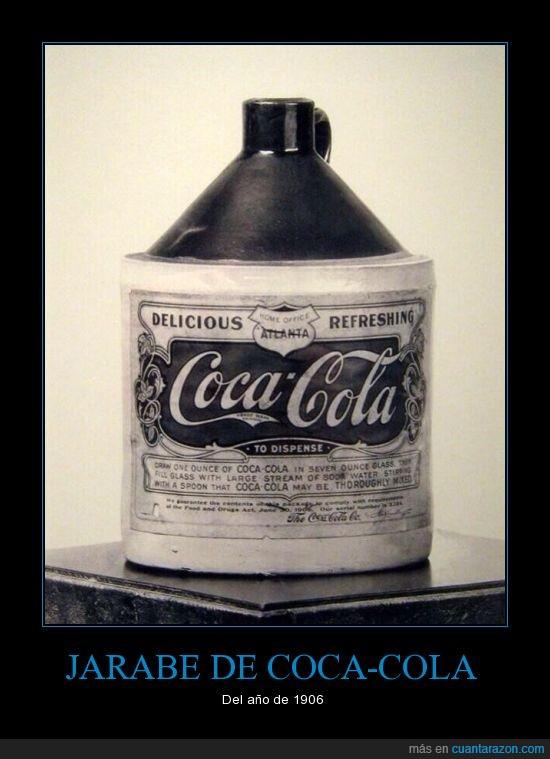 1906,botella,Coca,cola,curar,curativo,jarabe
