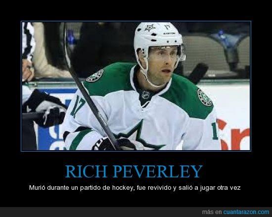 he visto gente viril pero esto es demsiado,hockey,morir,muerto,revivir,rich peverley