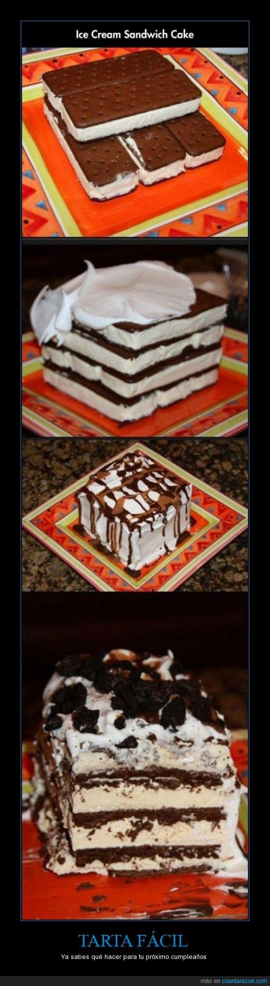chocolate,galleta,helado,mas facil que dios,nata,pastel,sandwich