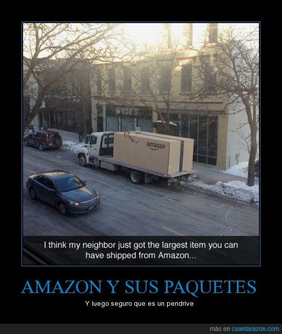 amazon,camión,grande,paquete,será un coche o algo