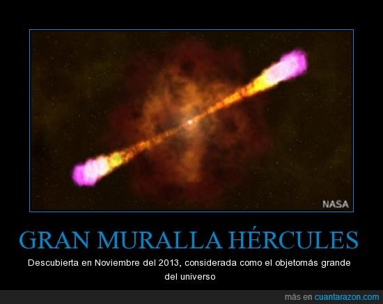 Grán muralla Hércules-Corona Boreal,grande,objeto,Primer cartel,universo
