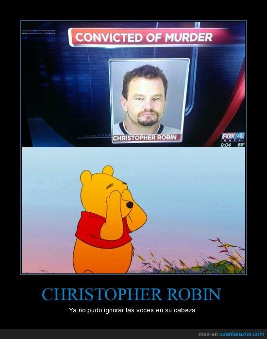 asesino,carcel,CHRISTOPHER ROBIN,cruel,pobre winnie,winnie pooh