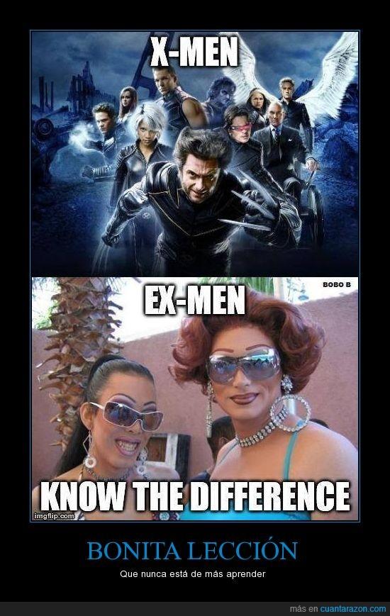 cambio,diferencia,ex-men,exmen,género,hombre,lobezno,mujer,trans,x-men,xmen