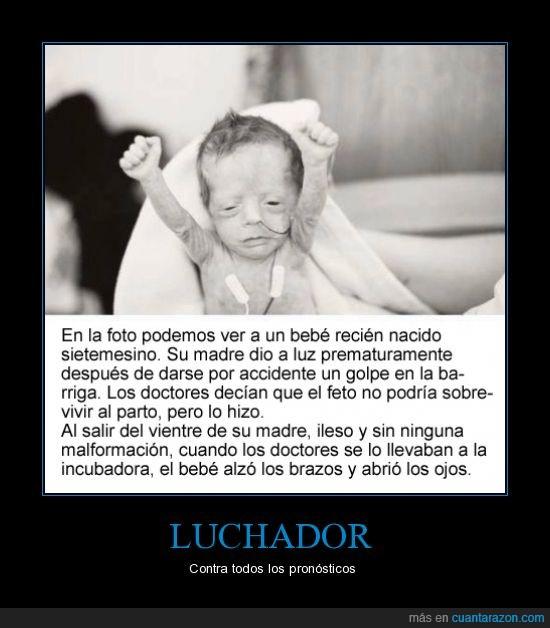 bebe,brazos,feto,levantar,luchador,meses,nacer,nacio,pronostico,siete,sietemesino,sobrevivir