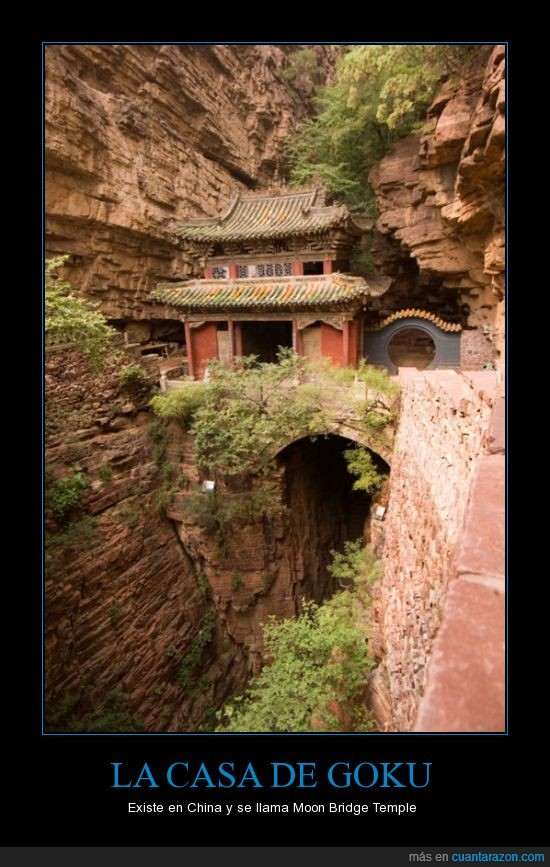ahi murio el abuelo,bridge,dragon ball,goku,moon,temple
