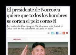 Enlace a Kim Jong-un y su corte de pelo