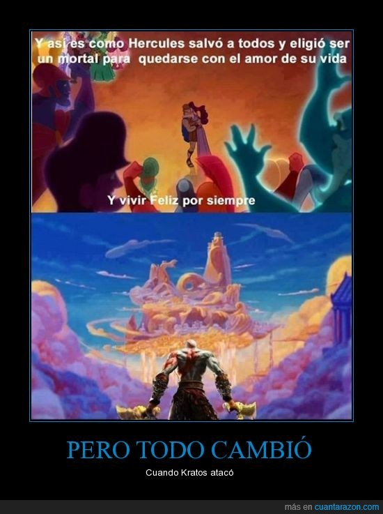 dioses,Disney,God of war,hercules,Kratos,megara,olimpo,Santa Monica