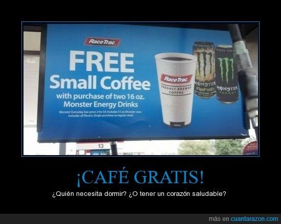 café,cafeina a tope,energy drink,monster energy,ritmo cardíaco como el de un colibrí,taquicardia masiva