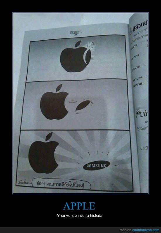 apple,bocado,caer pieza,revista,samsung