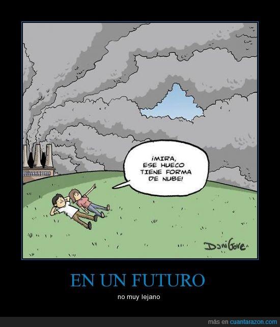 cielo,contaminacion,futuro,nubes,personas