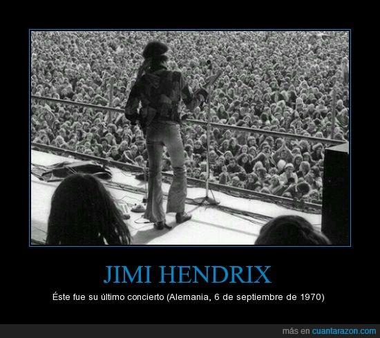 1970,Alemania,concierto,hoy en día no hay artistas como él,Jimi Hendrix,leyenda,mucha gente
