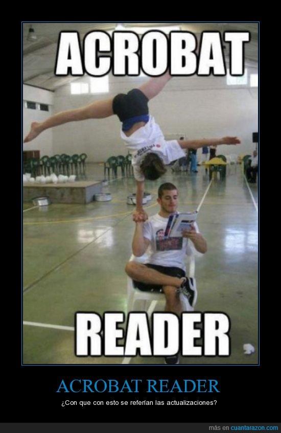 acrobat,acróbata,actualización,hombre,mujer,reader