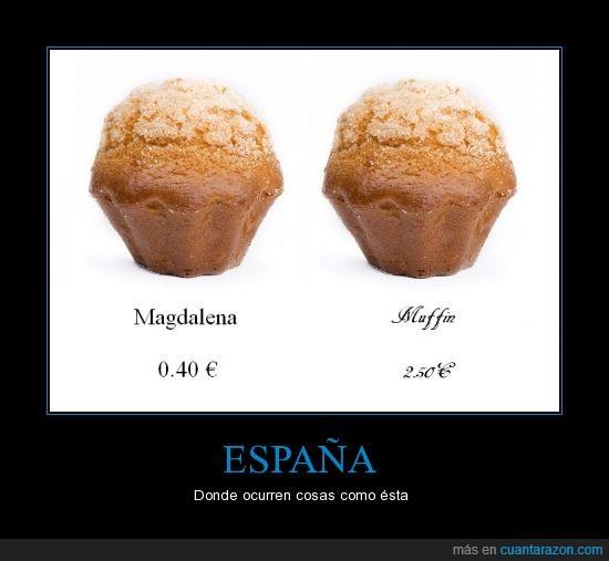 españa,la receta es diferente pero os la cuelan igual,magdalena,moda,muffin,precio