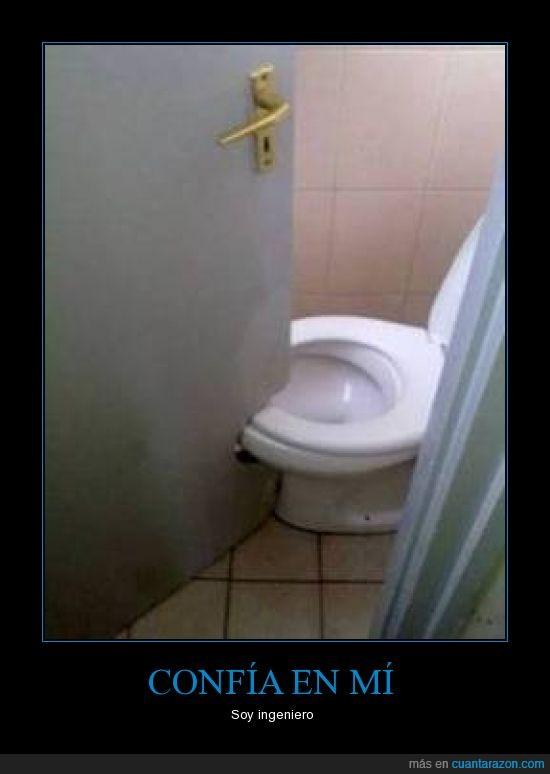 abrir,apaño,cortar,cutre,espacio,lavabo,ni cagar tranquilo se puede,pequeño,puerta,vater,W.C.
