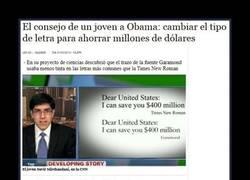 Enlace a Cambiar la fuente supone mucho dinero, Obama