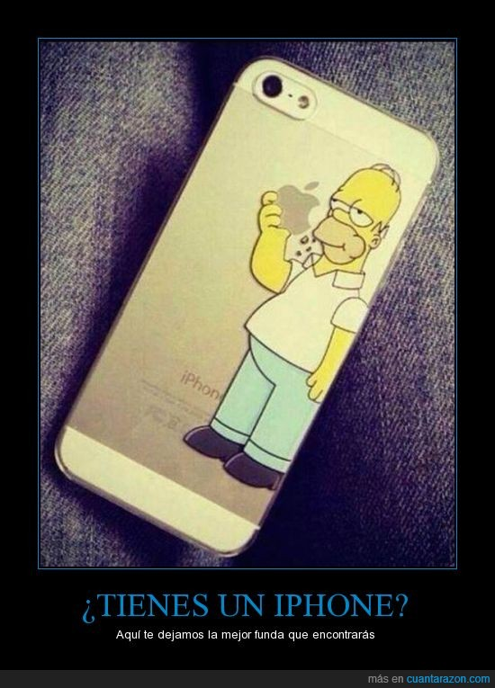 apple,case,comer,comiendo,funda,homer simpson,manzana,morder