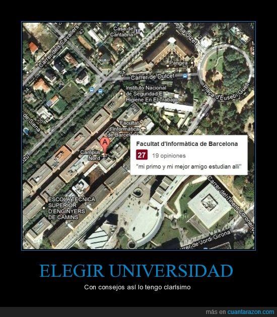 amigo,Barcelona,consejo,elegir,informatica,mejor,primo,universidad