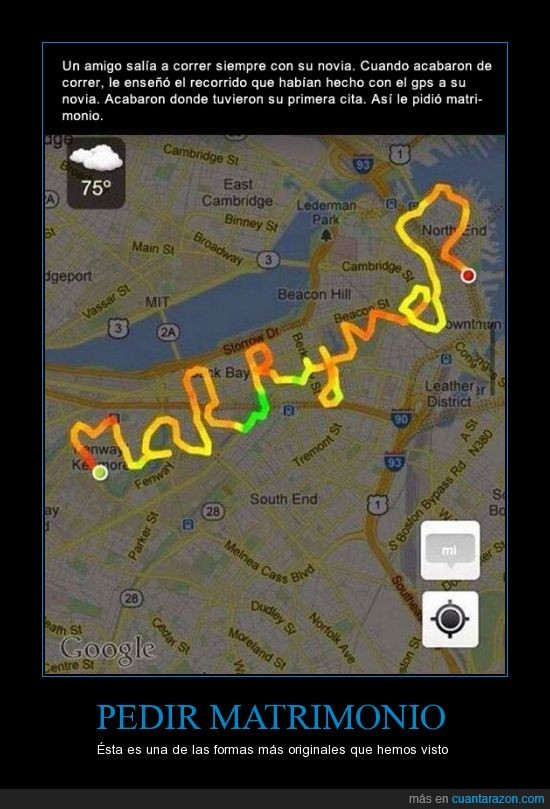 cita,correr,lugar,mapa,marry me,matrimonio,pareja,pedida,pedir,recorrido,runner