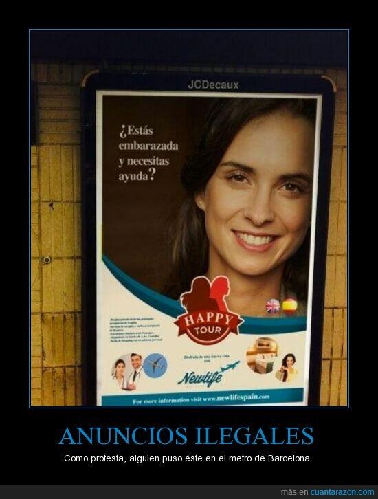 abortar,anuncio,barcelona,cartel,metro,pirata,tmb,viaje