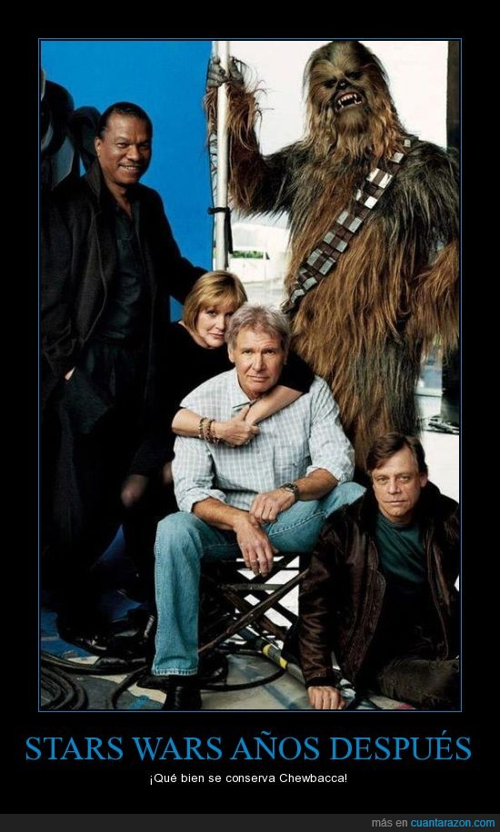 años,chewbacca,la espada laser como baston,mas viejitos,stars wars