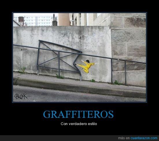 arte,barda,bruce lee,graffiti,pared,pintura