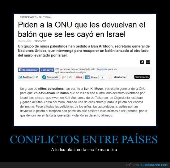 Balón,conflictos,guerra,Israel y palestina
