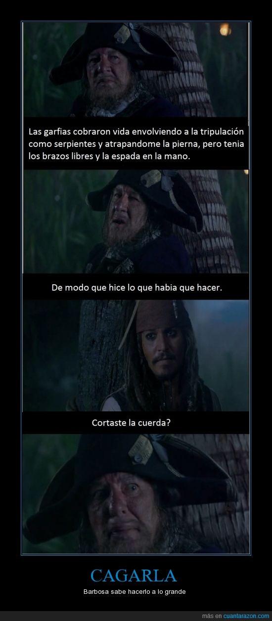 barbosa,cortar,cuerda,jack,pierna,piratas,sparrow