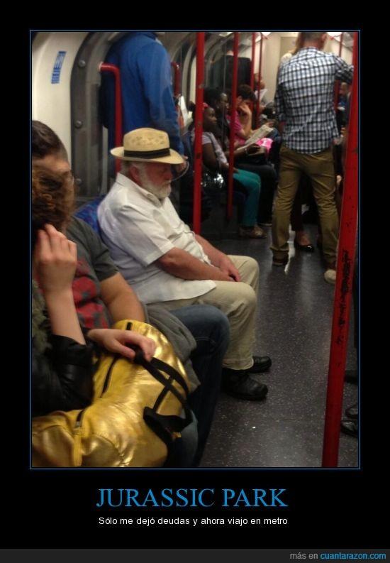 dinosaurios,john hammond,Jurassic Park,metro,parque jurasico