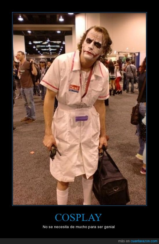 bomba,cosplay,enfermera,hay que aceptar que se parece mucho,Joker