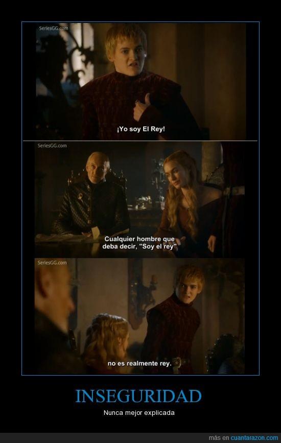 cersei,inseguridad,joffrey,juego de tronos,lannister,politica,rey,tywin