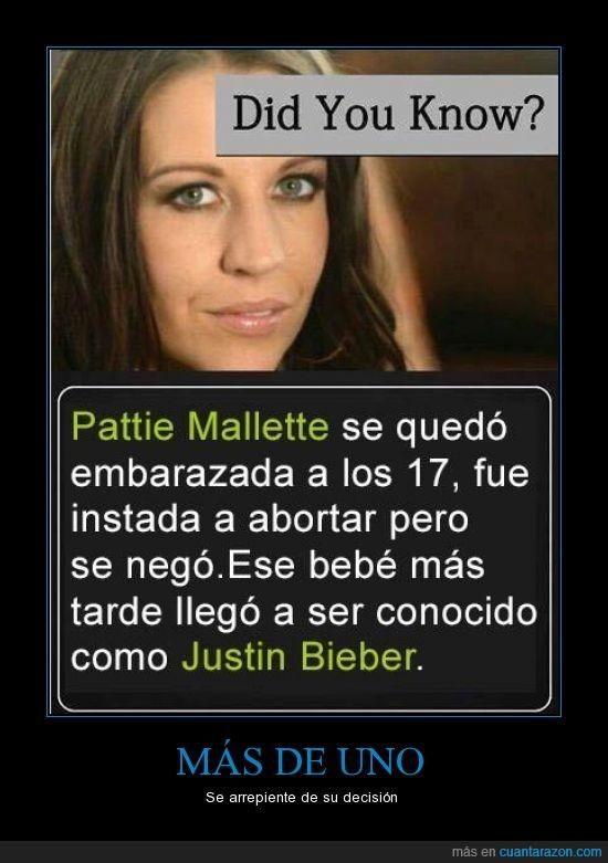 aborto,hijo,justin bieber,madre,madre de Justin Bieber