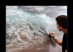 Enlace a Joel Rea y su arte hiperrealista de olas