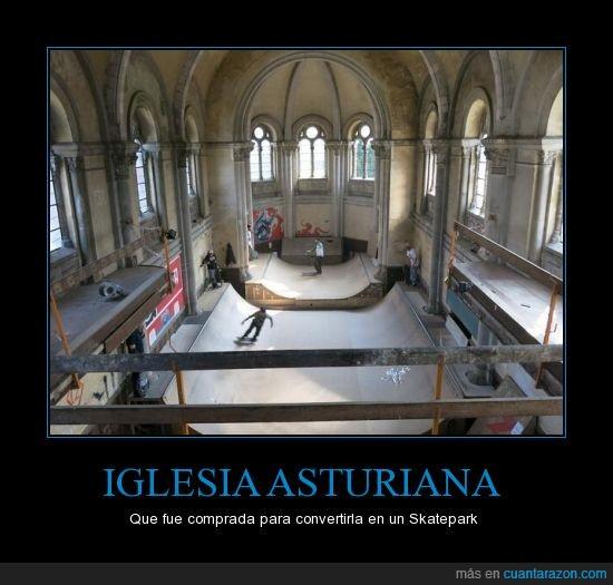 asturias,iglesia,skate,skatepark
