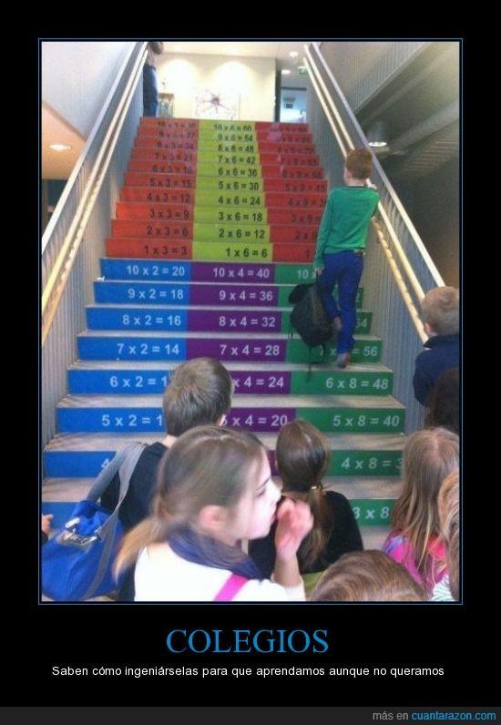 aprender,escaleras,ingenio,multiplicar