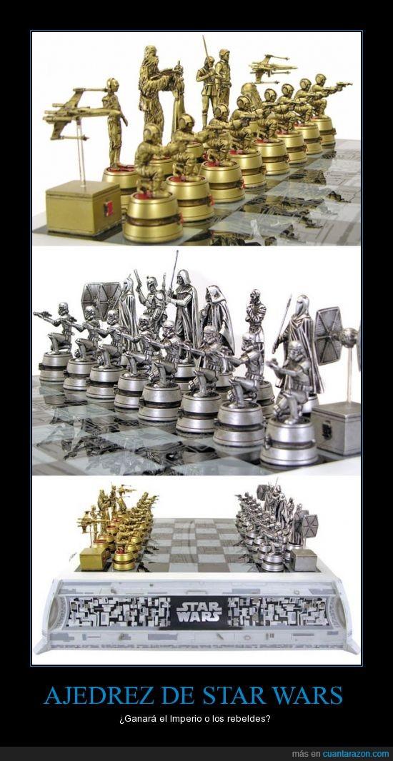 ajedrez,imperio,jugar,la guerra de las galaxias,piezas,rebeldes,star wars