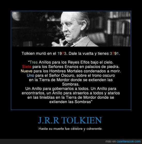 1973,anillos,año,jrr tolkien,mortal,muerte,nueve,siete,sombras,tolkien,tres,uno