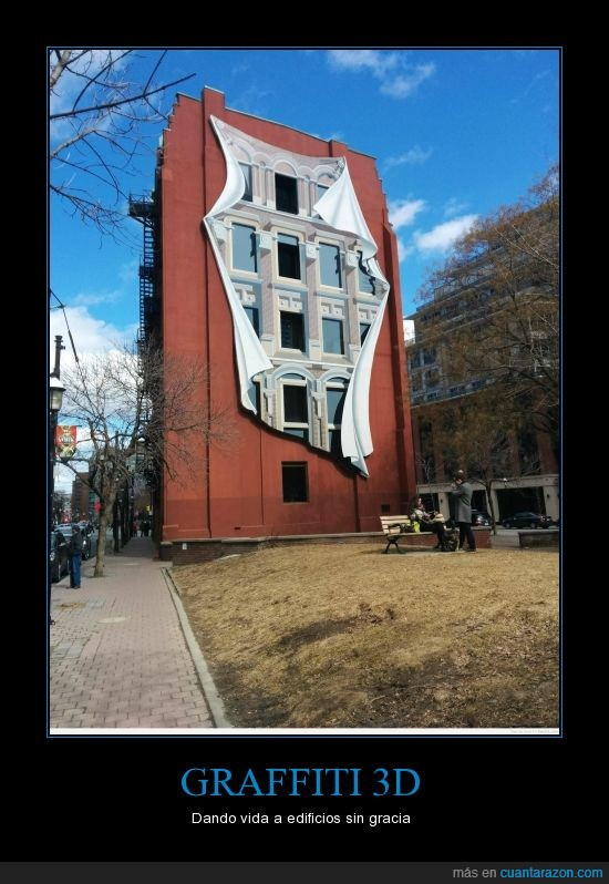3d,edificio,graffiti,manta,parque,pintura,ventana