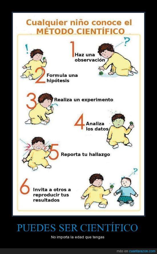 bebe,ciencia,comprobar,metodo,niño,pasos,probar,resultado