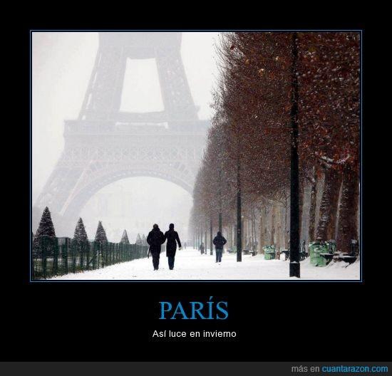 frio,invierno,nieve,paris,torre eiffel