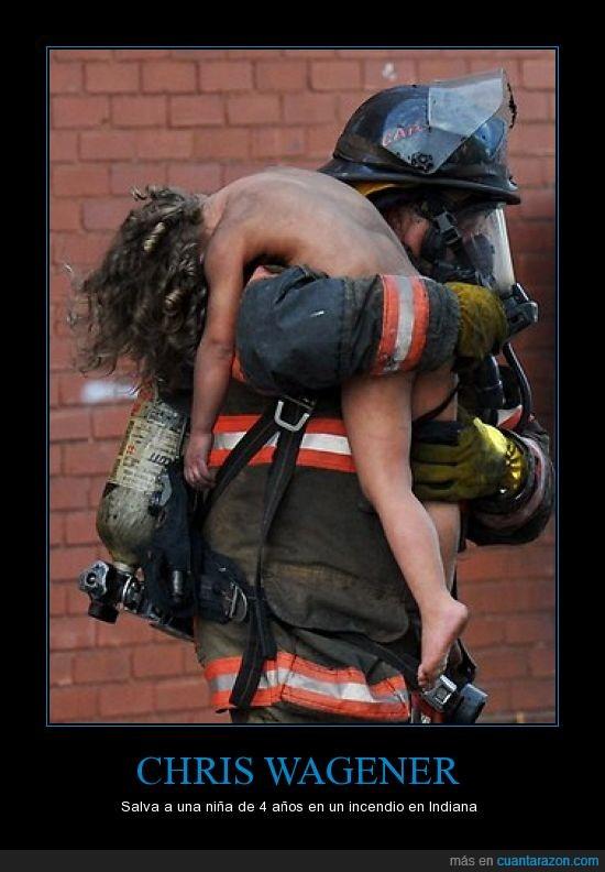 bomberos,héroe,heroísmo,niña,rescate,valentía