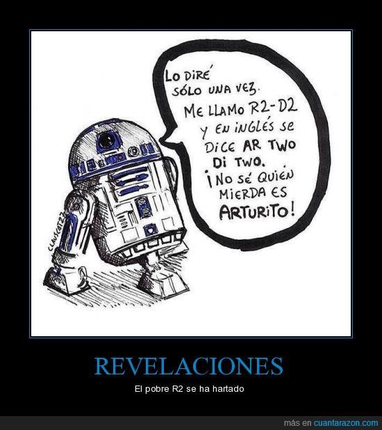 ar two di two,arturito,r2d2,revelaciones,robot,star wars