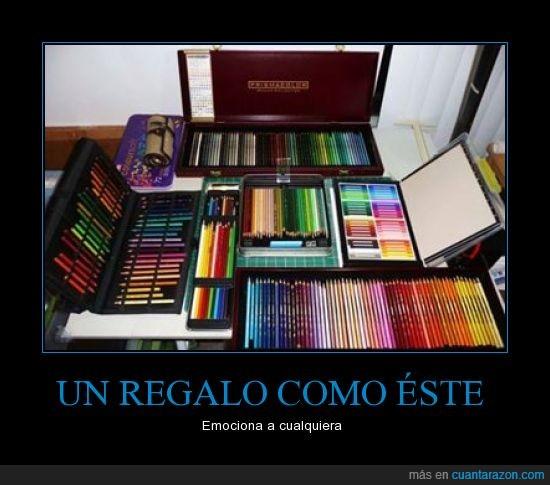 caja,Colores,Cualquiera,dibujar,Emocion,pintar,Regalo