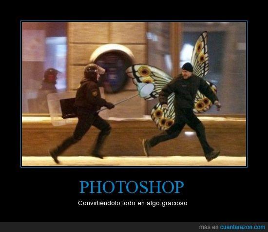 alas,cazamariposas,convertir,gracioso,mariposa,perseguir,Photoshop,policía,todo