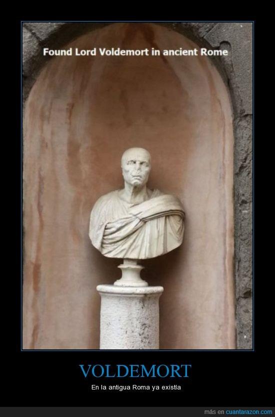 antigua,estátua,harry potter,Roma,Voldemort